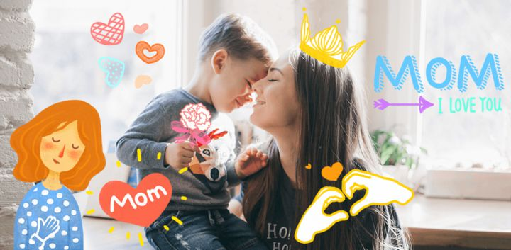 sticker: Super Mommy image