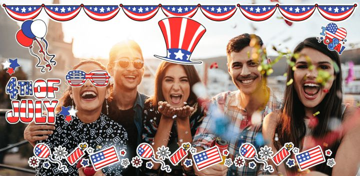 sticker: 4th of July image
