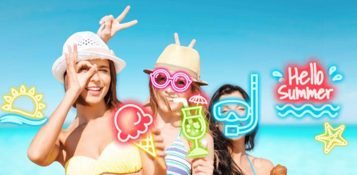 sticker: Neon Summer image