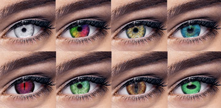 sticker: Colored Contacts image
