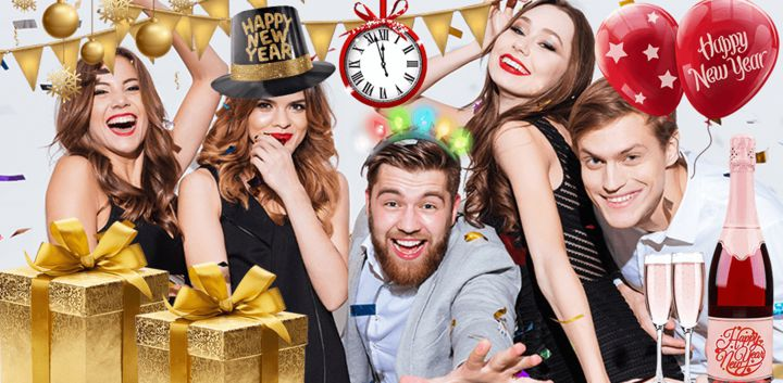 sticker: New Year Party image