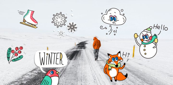 sticker: Warm Winter image
