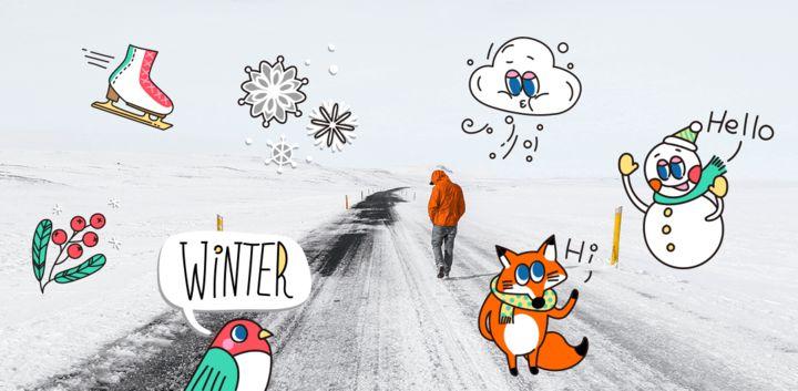 sticker: Warm Winter image