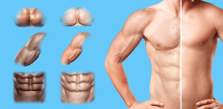 sticker: Muscles image