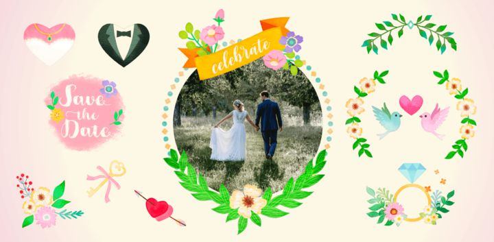 sticker: Wedding image