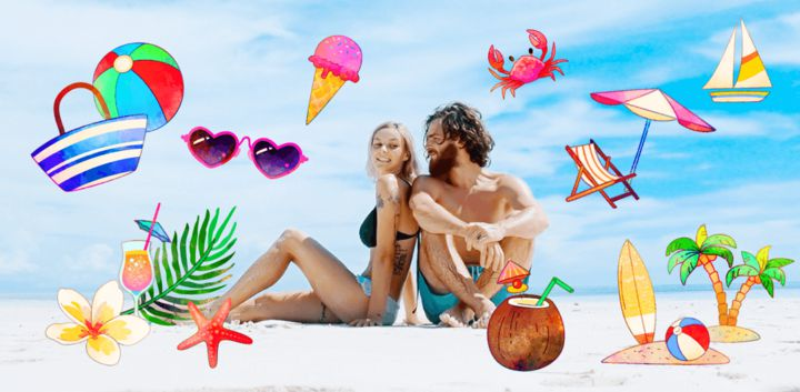 sticker: Beach Life image