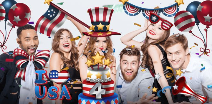 sticker: USA Independence image