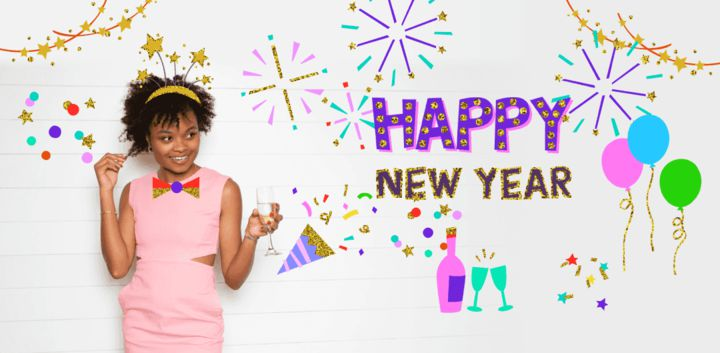 sticker: Hello New Year image