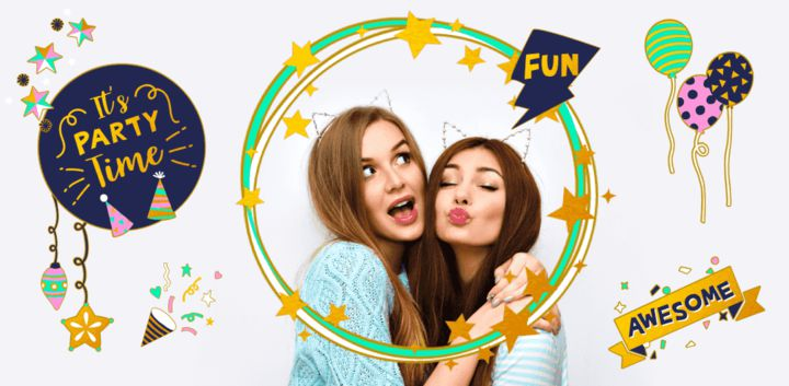 sticker: New Year Party Fun Sticker image