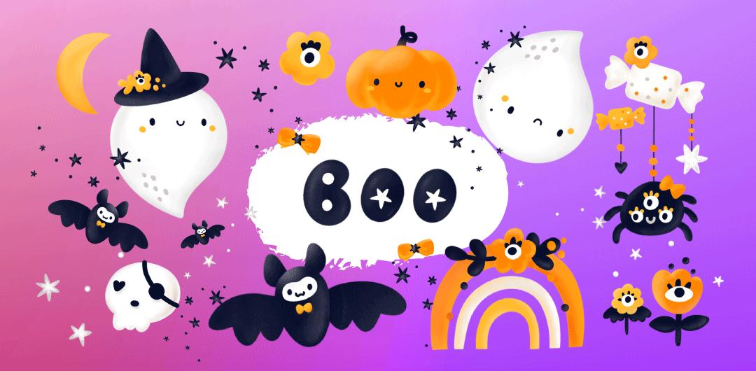 sticker: Boo! image