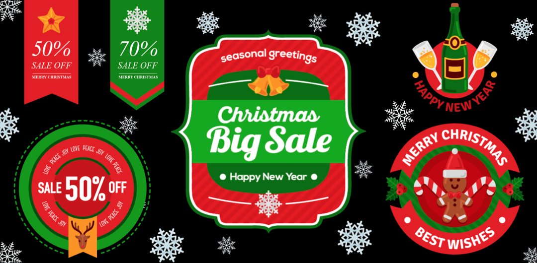 sticker: Christmas Sale Label image