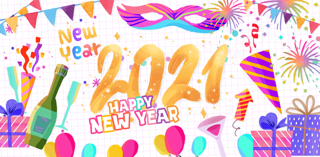 sticker: New Year Cheers image