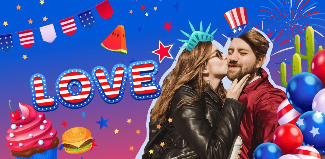 sticker: USA Party image