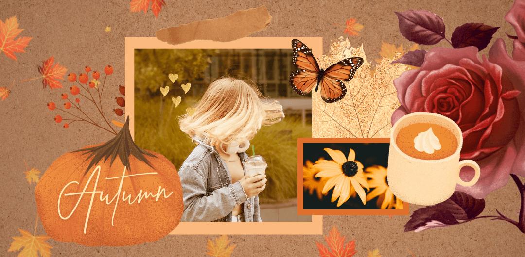 sticker: Autumn Collage image