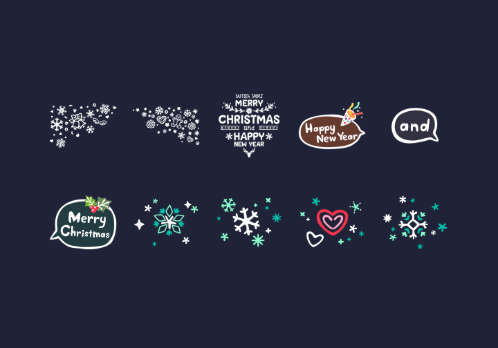 PhotoGrid Stickers Christmas Deco