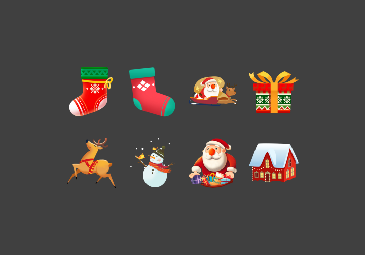 PhotoGrid Stickers Christmas Gifts