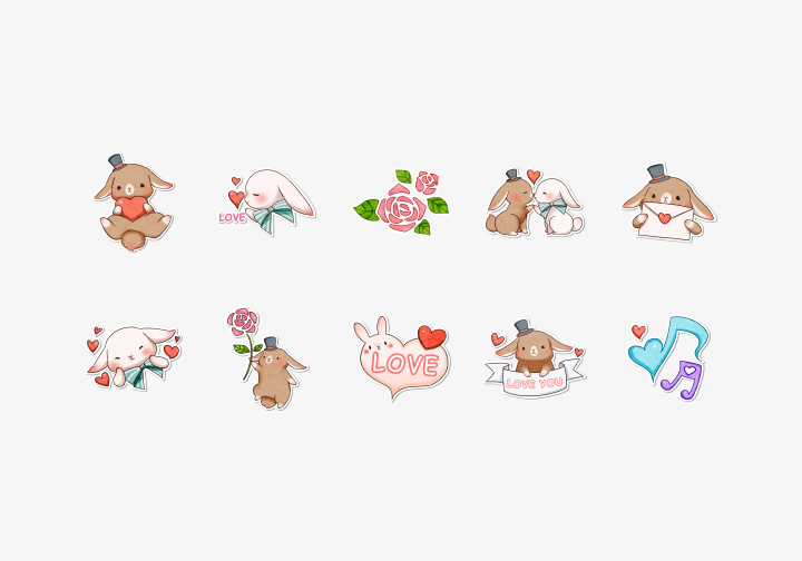 PhotoGrid Stickers Sweet Love