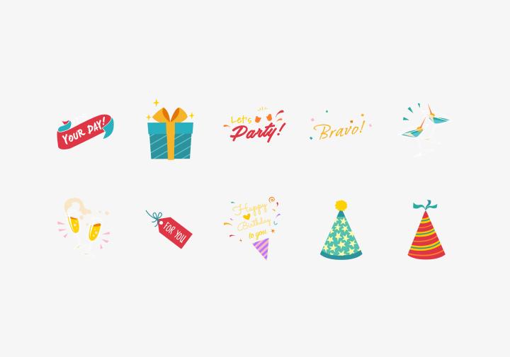 PhotoGrid Stickers Birthday Wishes
