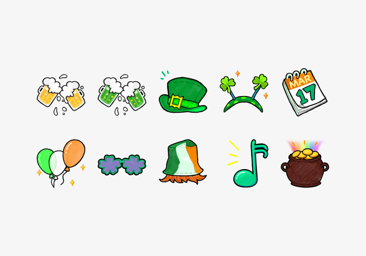 PhotoGrid Stickers St. Patrick's Day