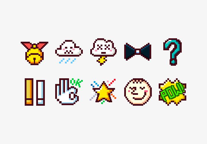 PhotoGrid Stickers Pixel Fun