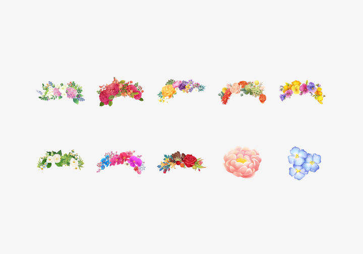 PhotoGrid Stickers Flower Decor