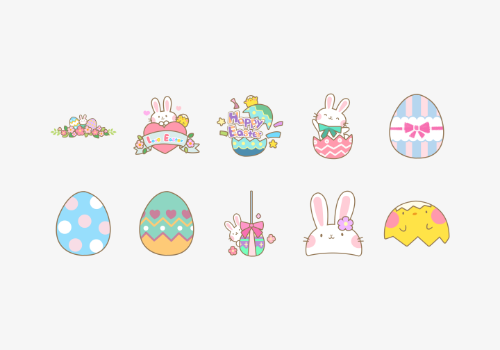 PhotoGrid Stickers Cute Easter