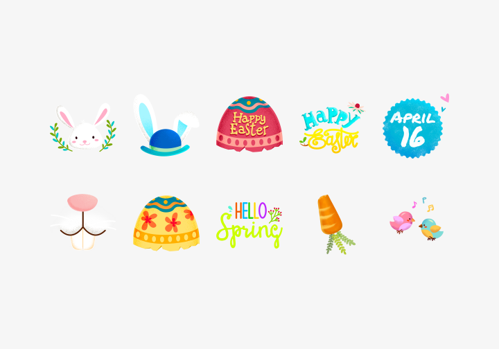 PhotoGrid Stickers Easter Holiday