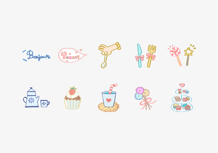 PhotoGrid Stickers Tea Time