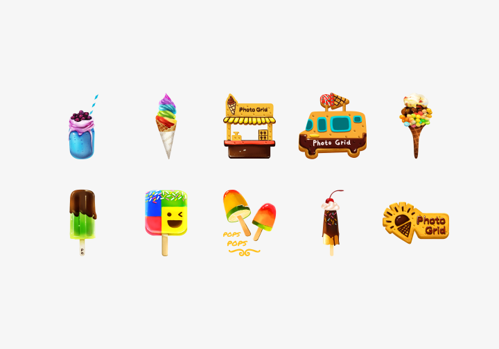 PhotoGrid Stickers Ice Cream