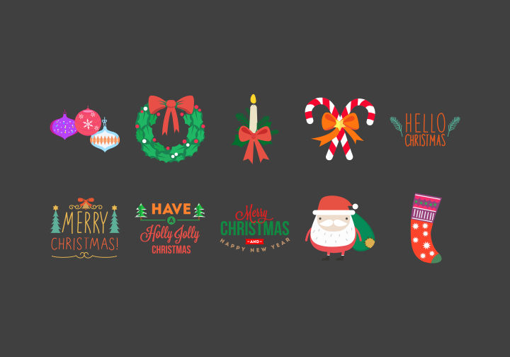 PhotoGrid Stickers Xmas Animal Stickers