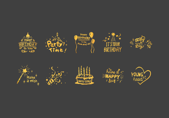 PhotoGrid Stickers Birthday Party