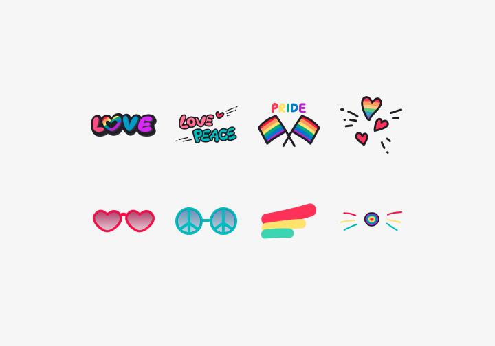 PhotoGrid Stickers Rainbow Love