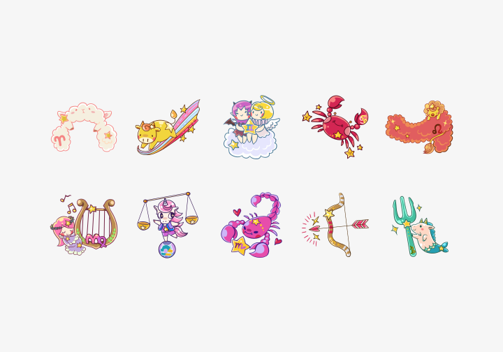 PhotoGrid Stickers Zodiac Signs