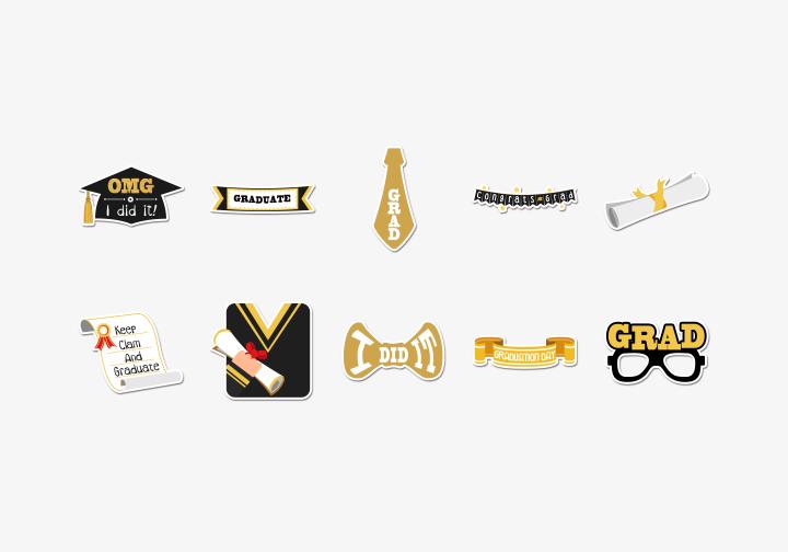 PhotoGrid Stickers Graduation