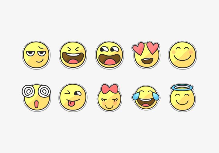PhotoGrid Stickers Fun Emoji