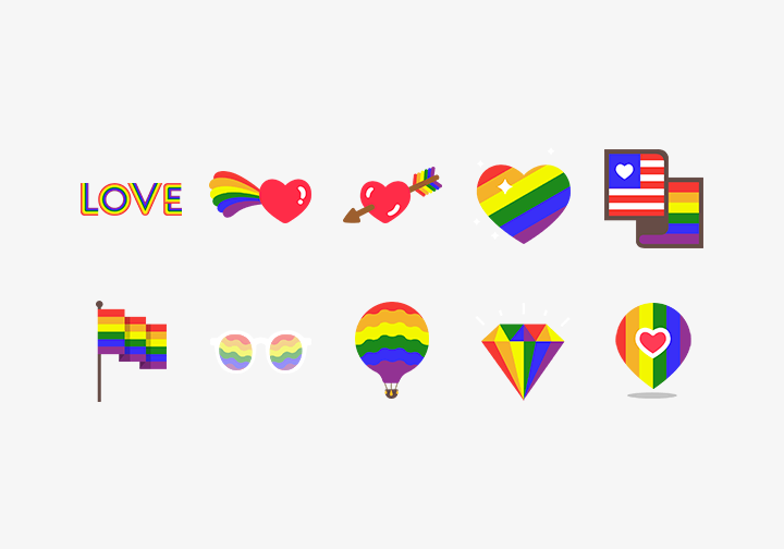 PhotoGrid Stickers Love Wins