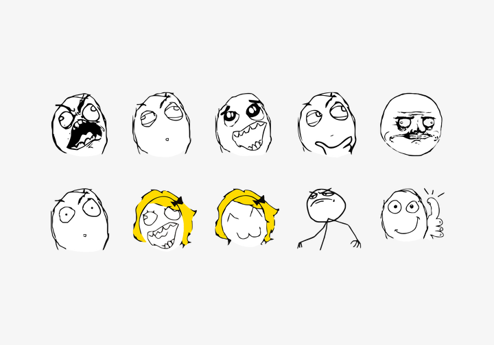PhotoGrid Stickers Rage Comic