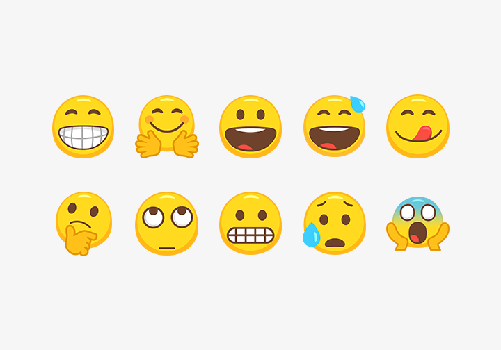 PhotoGrid Stickers Emoji Face