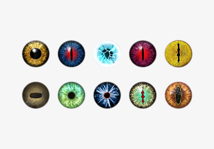 PhotoGrid Stickers Colored Contacts