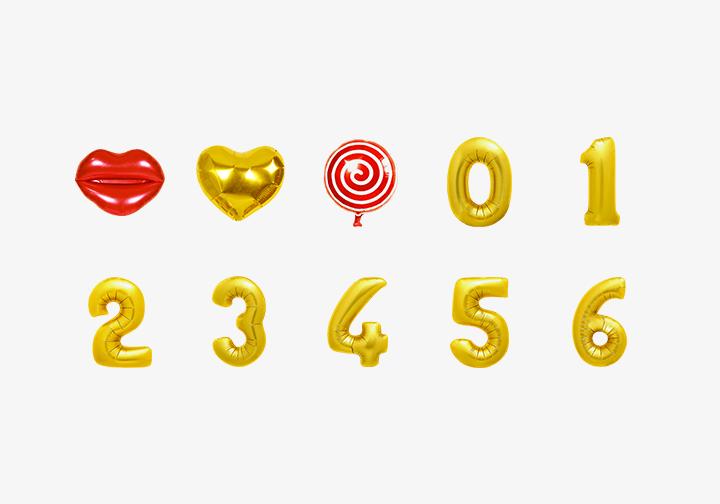 PhotoGrid Stickers Shiny Balloons