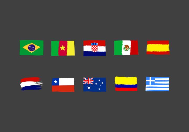 PhotoGrid Stickers Flag Paints