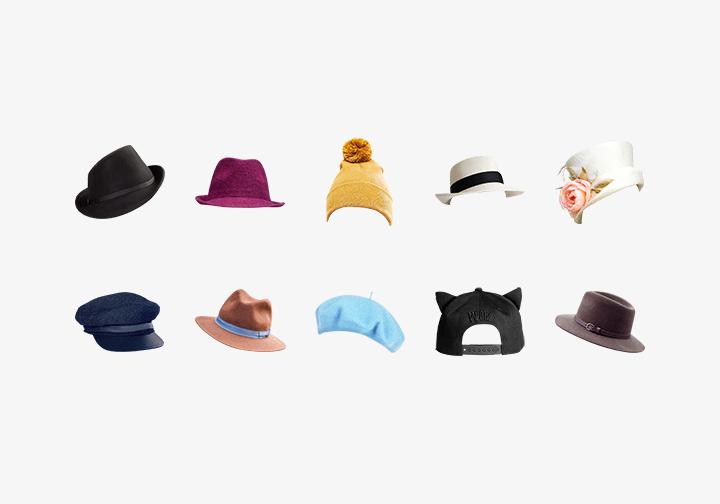 PhotoGrid Stickers Stylish Hats