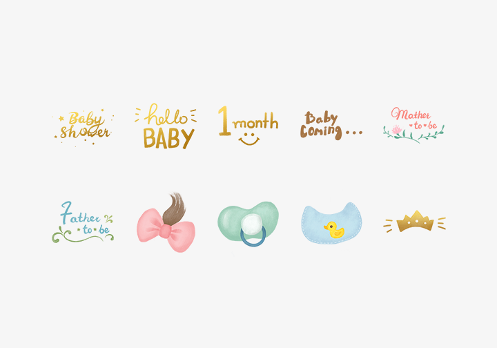 PhotoGrid Stickers Baby Love