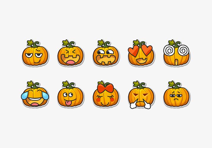 PhotoGrid Stickers Pumpkin Emoji