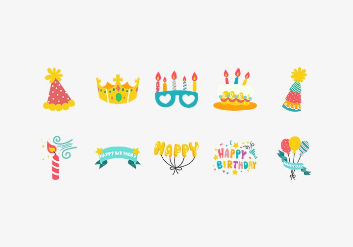 PhotoGrid Stickers Birthday Fun