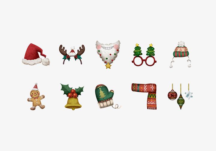 PhotoGrid Stickers Christmas Spirits