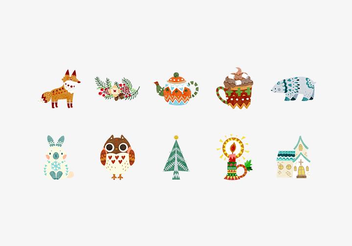 PhotoGrid Stickers Winter Spirits