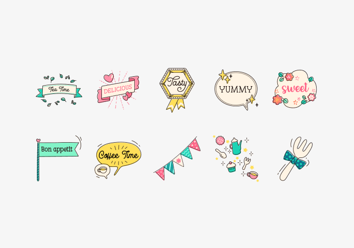 PhotoGrid Stickers Foodie