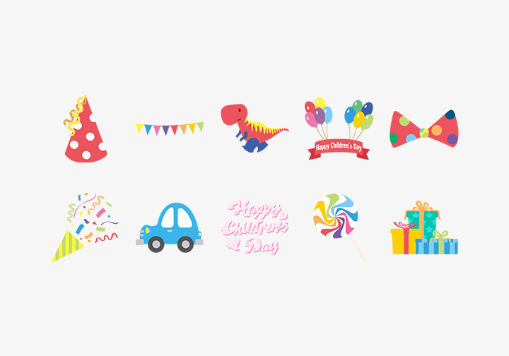 PhotoGrid Stickers Children's Day
