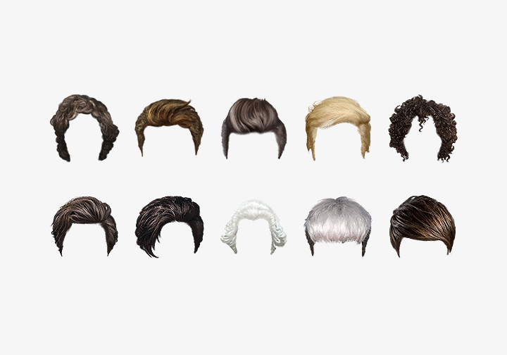 PhotoGrid Stickers Hairstyles